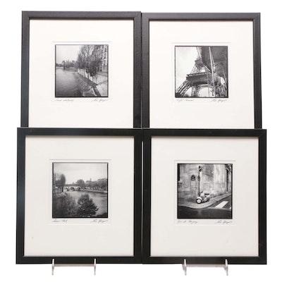 Offset Lithographs After Eric Kemp Photographs of Parisian Scenes