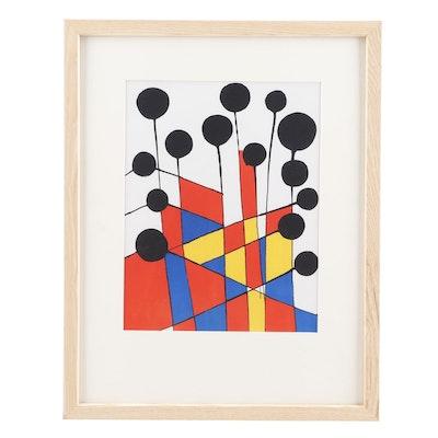 """Alexander Calder Color Lithograph """"Balloons"""""""