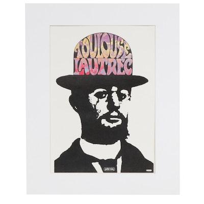 "Peter Max Offset Lithograph ""Toulouse Lautrec"""