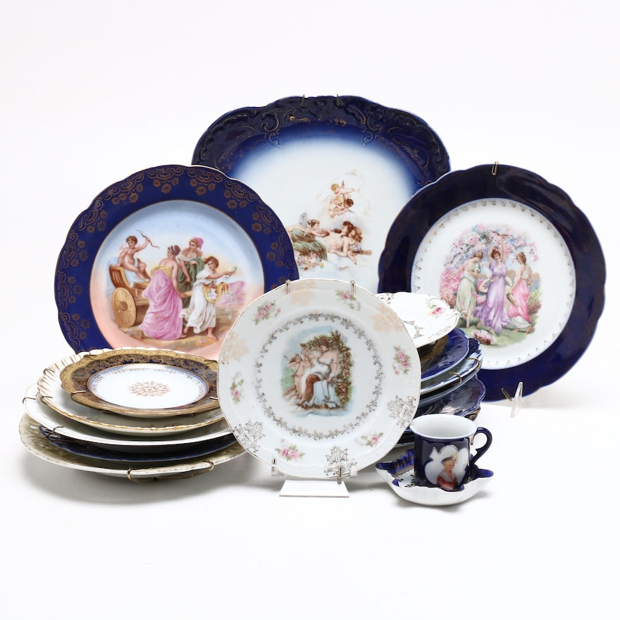 Z. S. & Co., Royal Bavaria, and More Porcelain and China Decorative Plates