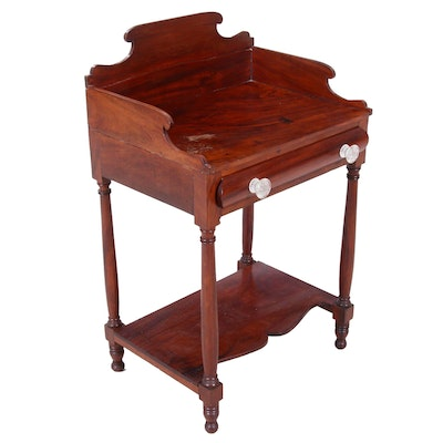 American Empire Mahogany Washstand, Early 19th Century