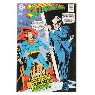"""1968 DC Comics """"Superman"""" #209"""