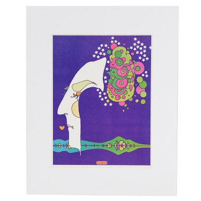 "Peter Max Offset Lithograph ""Midnight Dream"""