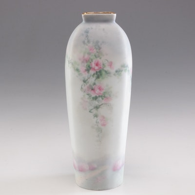 Pickard Hand Painted Porcelain Vase Signed by the Artist