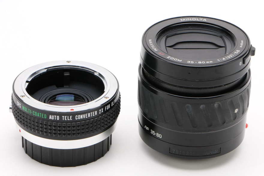 Lenses From Minolta And Olympus With Telephoto Converter