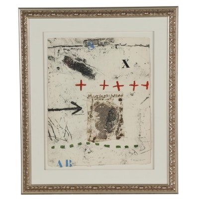 James Coignard Abstract Mixed Media Intaglio Print