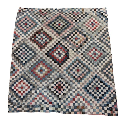 Handcrafted Reversible Geometric Quilt
