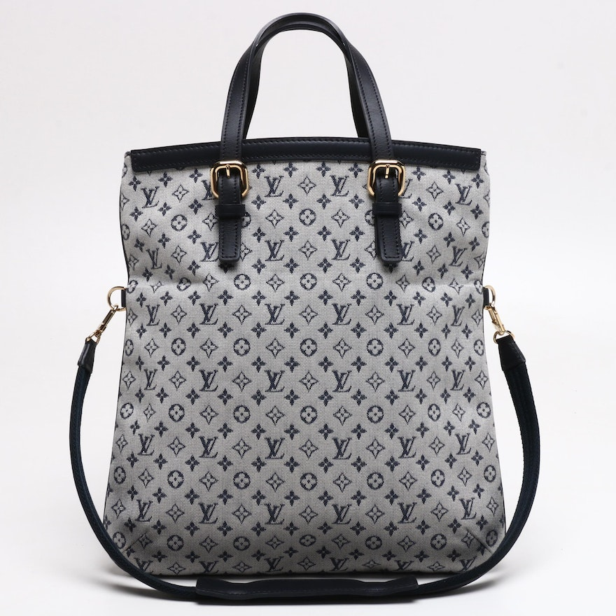 Louis Vuitton Navy Monogram Mini Lin Canvas Francoise Shoulder Bag