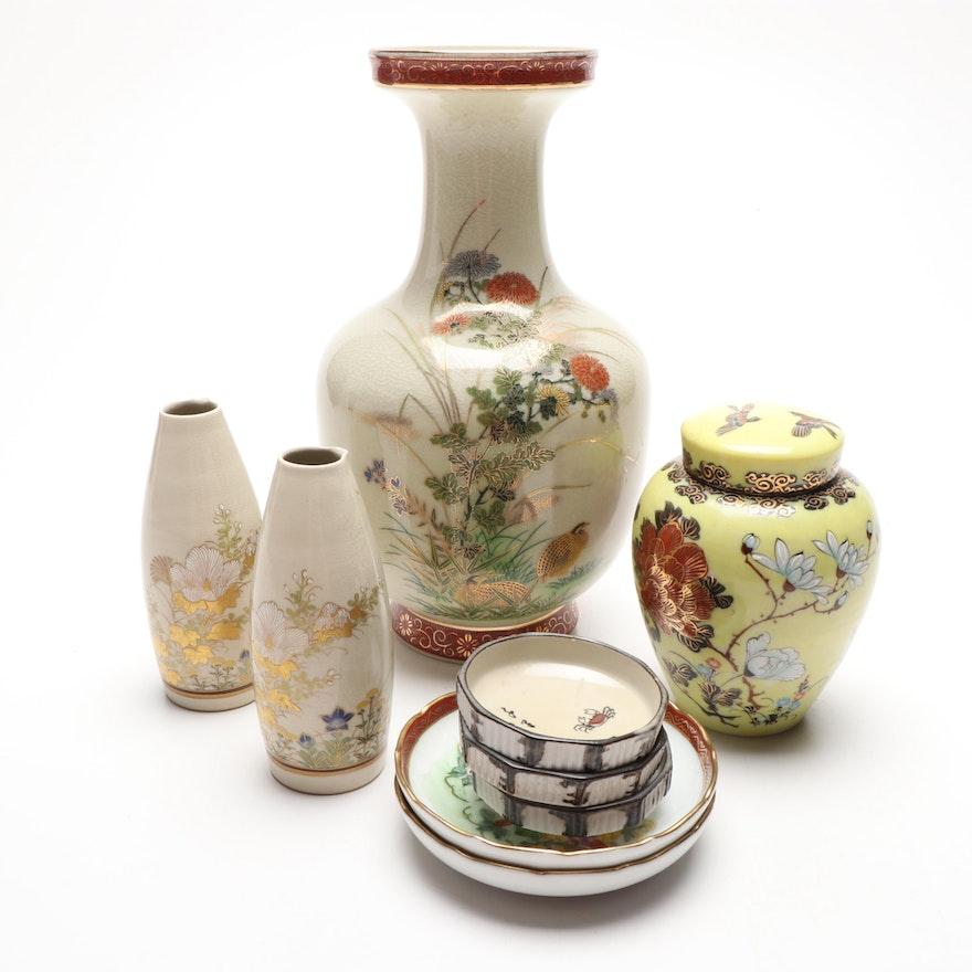 Japanese Hand Painted Porcelain Tableware, Mid to Late 20th Century