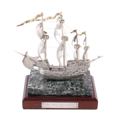 "Boehm Sterling Silver Limited Edition Replica of ""The Mary Rose"""