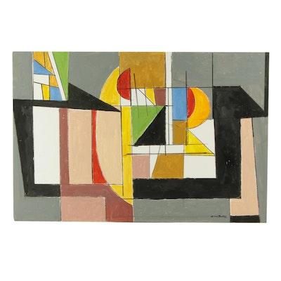 "Ronald Ahlström Acrylic Painting ""Enigma III"""