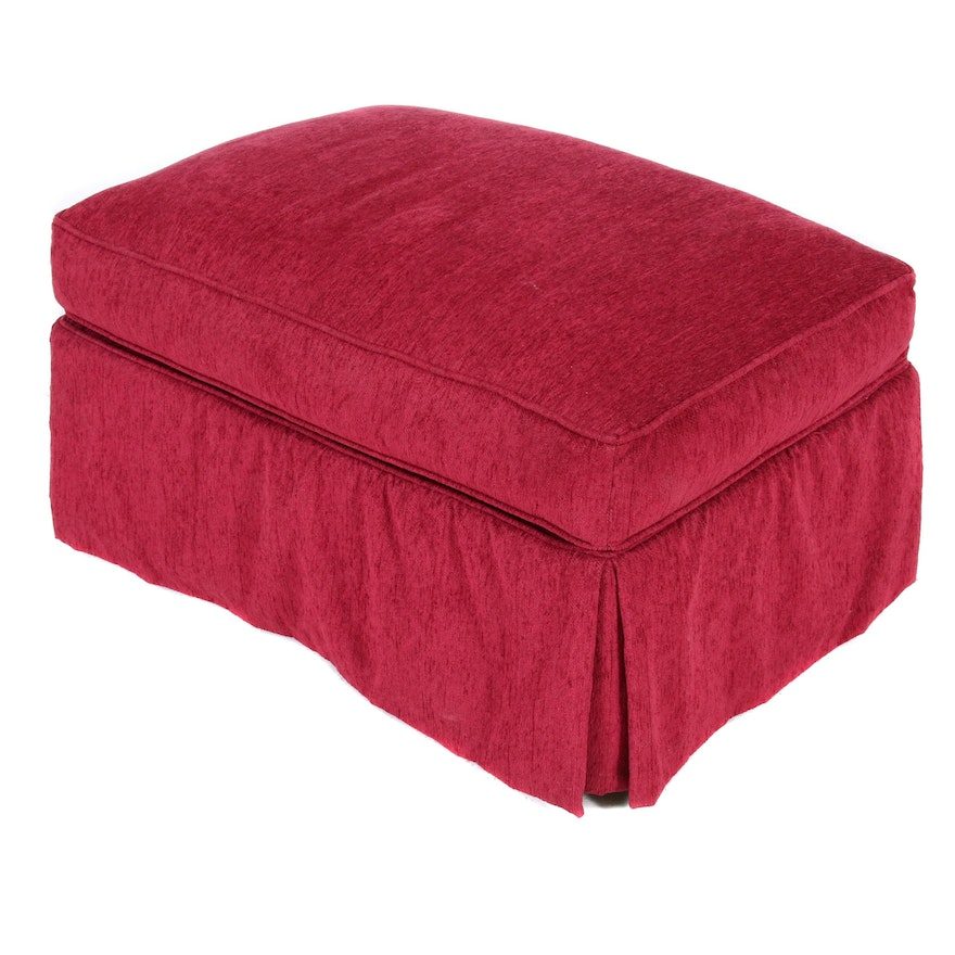 Rowe Furniture Upholstered Ottoman on Casters, Contemporary