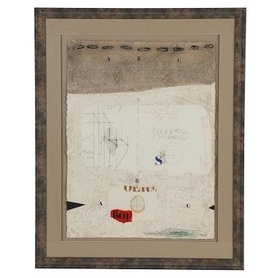 James Coignard Abstract Mixed Media Print