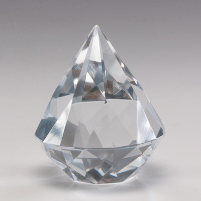 Tiffany & Co. Crystal Diamond Shaped Paperweight