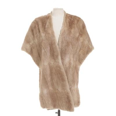D. Dwane Faux Fur Stole, Vintage
