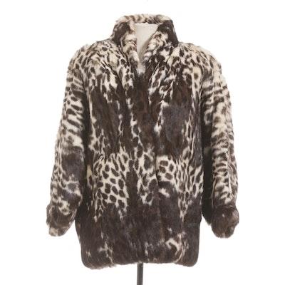 Polo Norte Leopard Print Rabbit Fur Coat