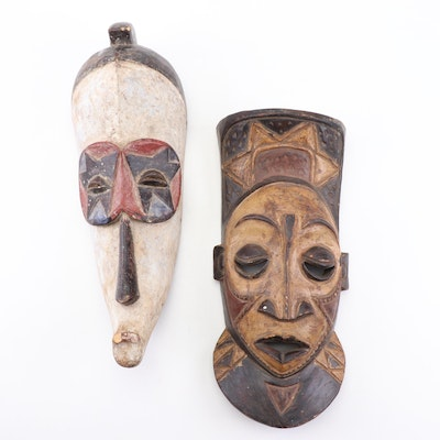 Hand-Carved West African Masks