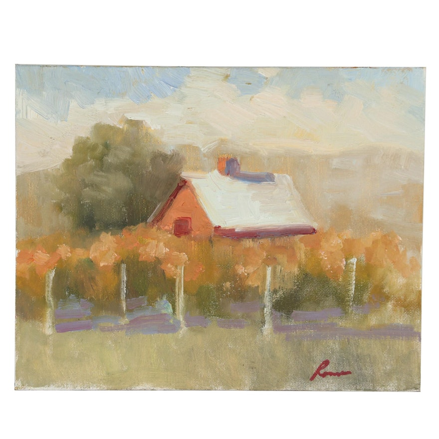 Sally Rosenbaum Landscape Oil Painting | EBTH