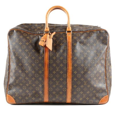 Louis Vuitton Paris Sirius 55 Soft Side Suitcase in Monogram Canvas, Vintage