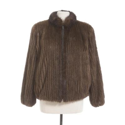 Vincent's Mink Fur Jacket with Marten Fur Collar