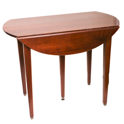 Federal Style Fruitwood Drop Leaf Table, 20th Century