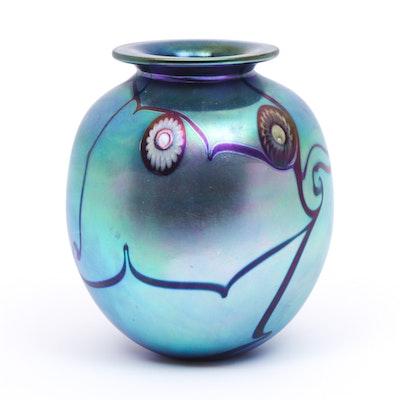 Eickholt Studios Art Glass Vase, 1996