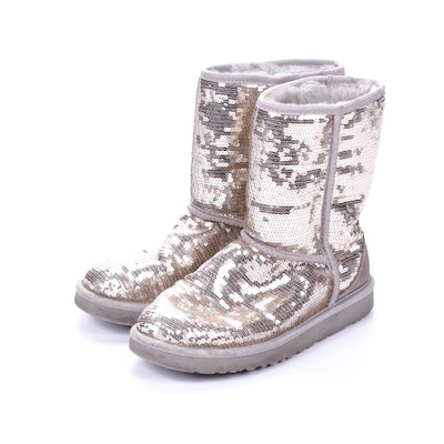 UGG Australia Classic Short Sequin Sparkle, Sheepskin Shearling Boot