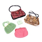 Beaded, Woven, and Carpet Handbags and Clutches