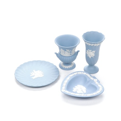 Wedgwood Jasperware Featuring Plates and Vases