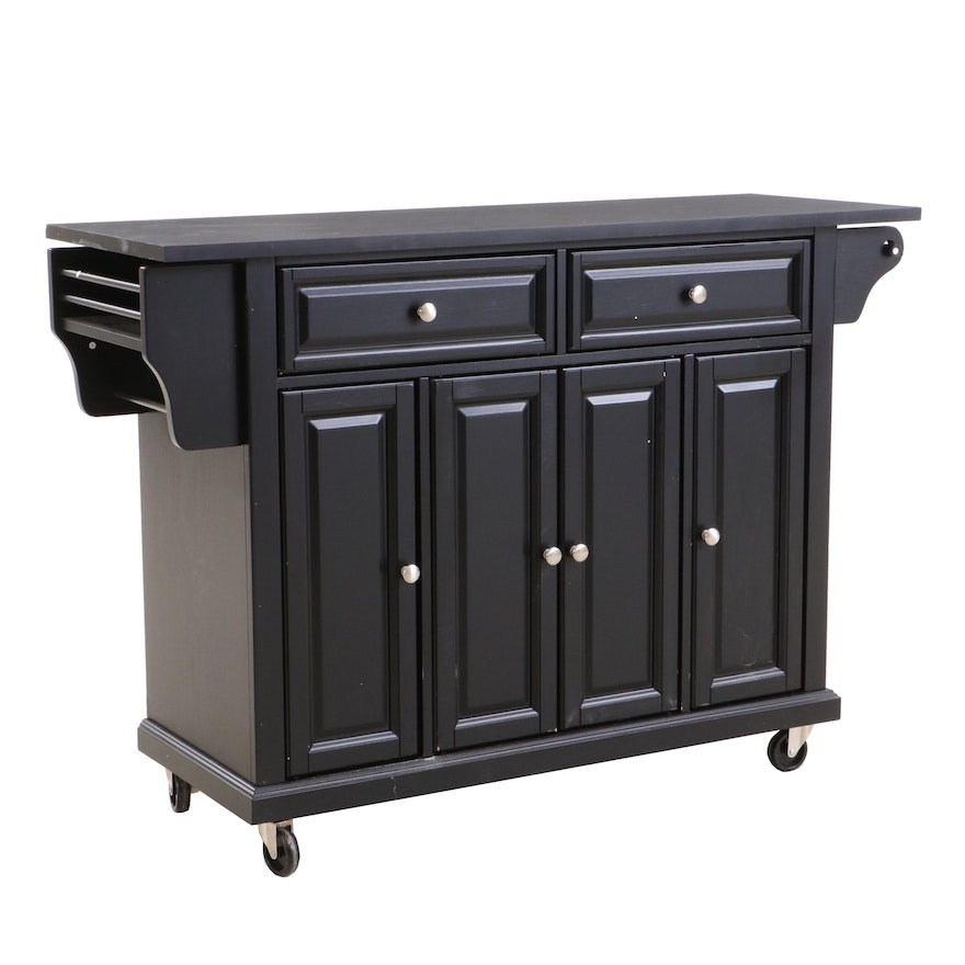 Crosley Sideboard in Black, with Casters
