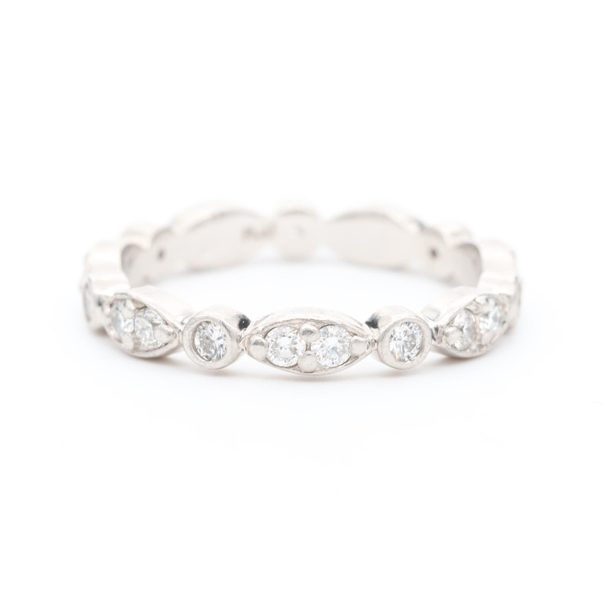 Platinum 0.53 CTW Diamond Eternity Ring