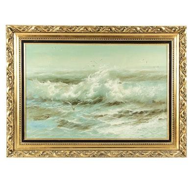 Karl Neumann Seascape Oil Painting