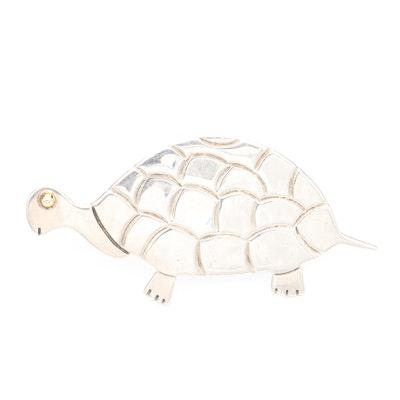 Taxco Sterling Silver Tortoise Brooch