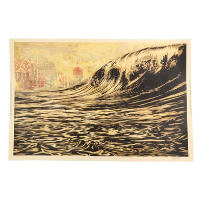 "Shepard Fairey Offset Print ""Dark Wave"""