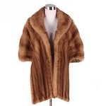 Mink Fur Stole with Shawl Collar, Mid-20th Century