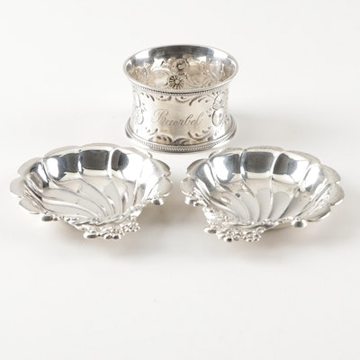 """Lunt Sterling Silver """"Modern Victorian"""" Nut Dishes, Mid 20th Century"""