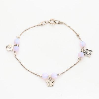 Lior Sterling Silver Glass Butterfly Bracelet