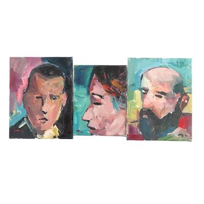 Jose Trujillo Portrait Oil Paintings