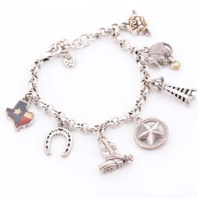 Brighton Texas Themed Charm Bracelet