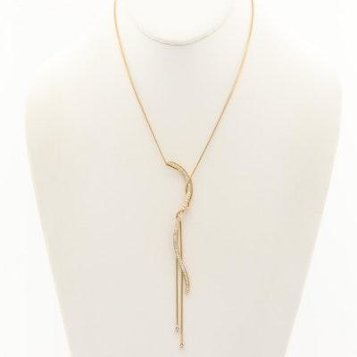 Jose Hess 18K Yellow Gold Diamond Necklace