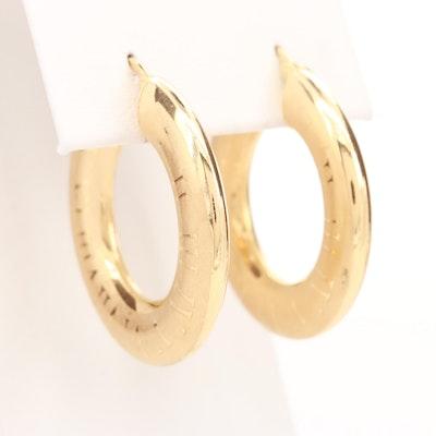 UnoAErre 18K Yellow Gold Hoop Earrings