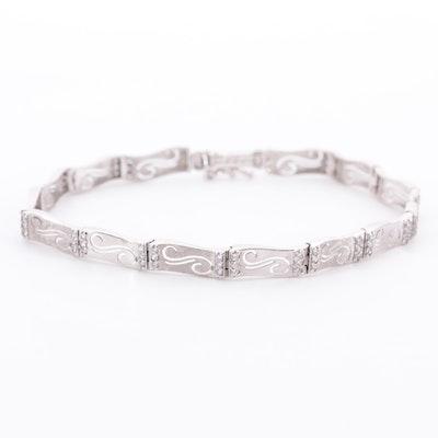 18K White Gold Cubic Zirconia Bracelet