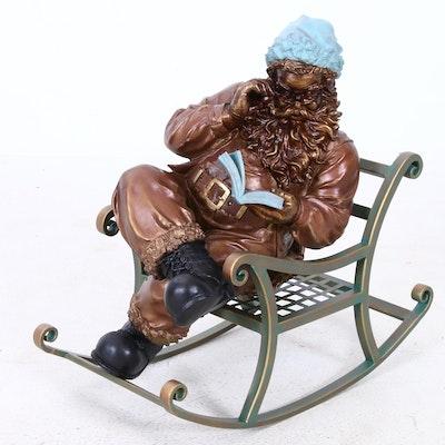 Rocking Santa Christmas Sculpture, 2003