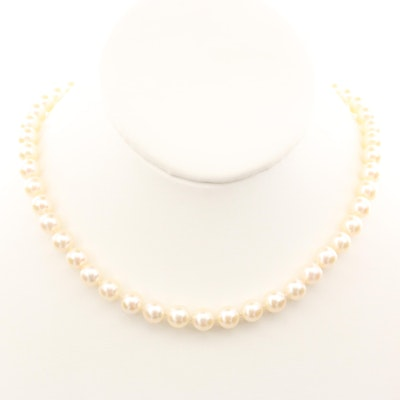 Vintage Strand of Pearls with 800 Silver Clasp