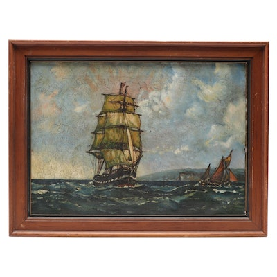 Oil Painting of Clipper Ship