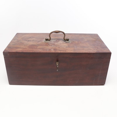 Locking Wood Document Box