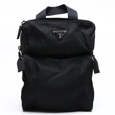 Prada Black Tessuto Nylon Mini Backpack