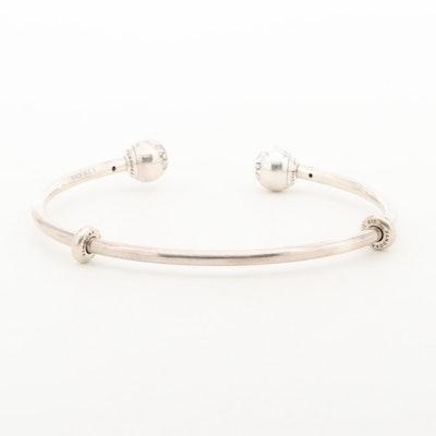 Pandora Sterling Silver Cuff Bracelet