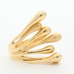 14K Yellow Gold Biomorphic Ring