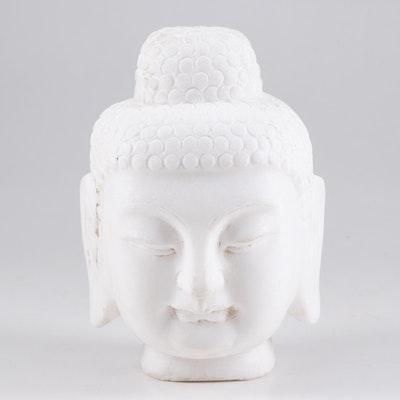 White Marble Buddha Bust